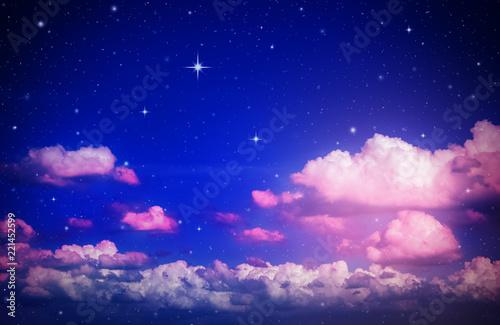 colorful night sky - 221452599