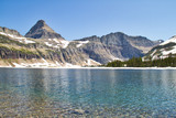 Image from the shore of a clear mountain lake.  This is Hidden Lake in Glacier National Park. - 221457350