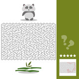 Panda Maze Game - help hungry panda find right way to his bamboo - Maze puzzle with solution © brillianata