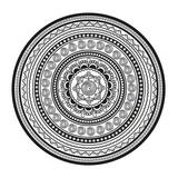 Black and white mandala - 221471390