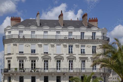 Sticker Traditionelle Wohnhäuser in Angers, Frankreich
