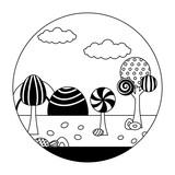 landscape sweet candies scene - 221484980