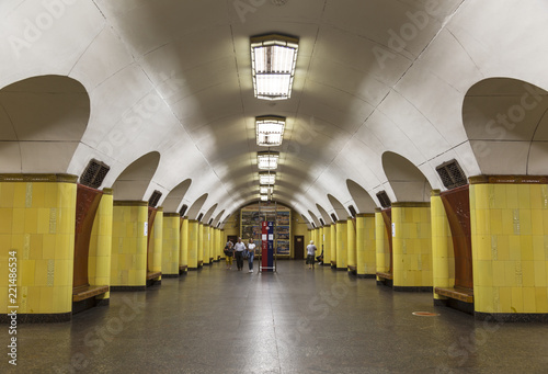 Interior of Moscow metro station