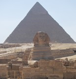 The Sphinx at the Pyramids of Giza, Cairo, Egypt - 221488157