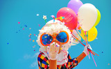 funny clown with balloons - 221502112
