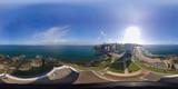 Aerial View in 360 of Farol da Barra in Salvador, Bahia, Brazil