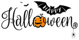 Happy halloween text banner isolated - 221507344