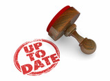Up to Date Updated New Refreshed Word Stamp 3d Illustration - 221512725