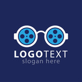 roll film glasses logo icon vector template - 221515722