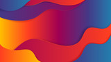 Abstract background, vivid warm color wavy gradient - 221523333