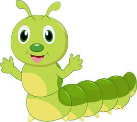 cartoon caterpillar posing