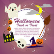 Halloween background with lovely costumes - 221531575