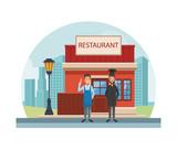Restaurant at city - 221534912