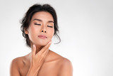 Beautiful Young Asian Woman with Clean Fresh Skin - 221538194