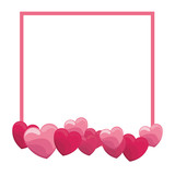 Romantic frame with hearts - 221542367