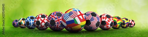 Soccer ball flags