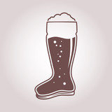 04 das boot beer glass one color icon - 221553566