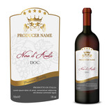 Wine Label with bottle Five Stars - 221555519