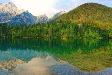 Lake mountain scenic natural view
