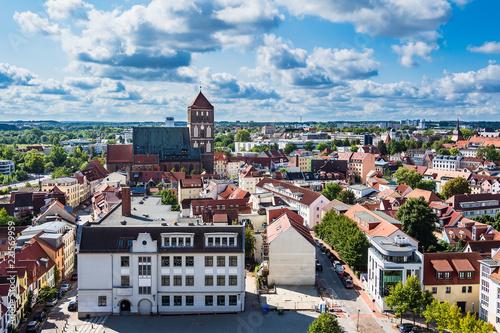 Foto Murales Blick auf die Hansestadt Rostock