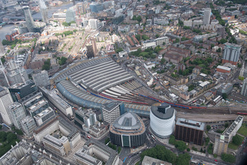 London victoria railway station- helicopter view © Marc Pelissier