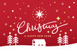 merry christmas & happy new year illustration design