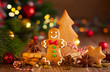Christmas homemade gingerbread cookies a