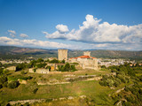Aerial view of the Castle of Monterrey in Ourense - 221583371