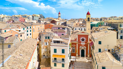 Panoramic view of Kerkyra, capital of Corfu island, Greece © Aleh Varanishcha