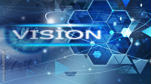 Vision background abstract blue concept solution eye