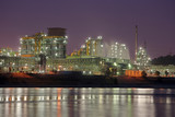 Coking Plant With River At Night - 221593551