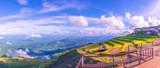 Camp on beautiful and famous travel location beautiful sea fog at Phu Tub Berk Viewpoint. - 221595303