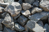 Scattered stones, rubble as a background. - 221596168