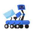 Vector illustration of robot and factory sign. Collection of robot and space stock vector illustration.