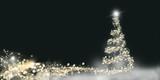 Weihnachtskarte mit Christbaum aus Lichtern - 221606947