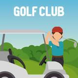 golfer playing in golf club - 221607154
