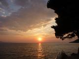Sonnenuntergang an der Makarska Adria in Igrane