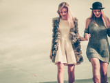 Two fashionable women outdoor - 221622978