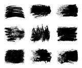 Collection of paint, brush strokes – stock vector - 221627565