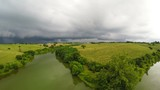 Stormy weather over Central Kentucky countryside - 221634714