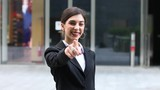 Businesswoman pointing a finger to you, eployment concept - 221636563