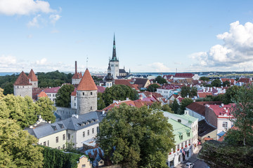 panoramic view of old tallinn © Tom