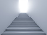 empty staircase with shining light - 221643956