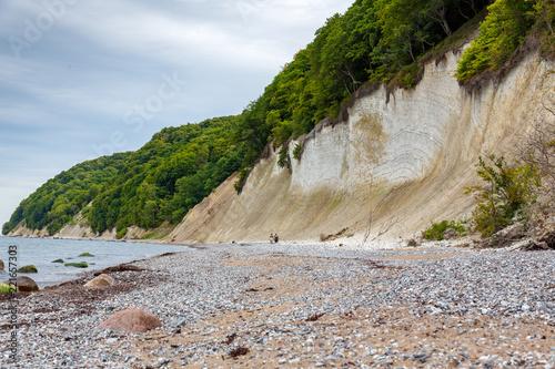 Foto Murales chalk coast on Ruegen island in Germany near baltic sea