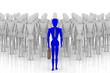 Leader. Persona davanti a tutti gli altri. In primo piano precede altre persone.. - 221658500