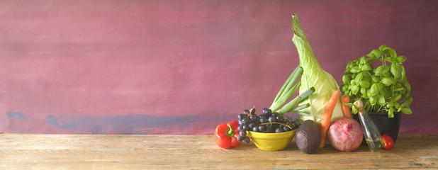 healthy food, vegetables, fruit, herbs, food ingredients, healthy eating, dieting