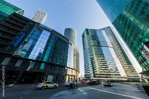 Leinwanddruck Bild Moscow international business center