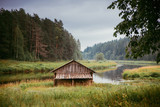 Log cabin - 221680991