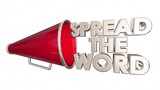 Spread the Word Share Information Bullhorn Megaphone 3d Animation - 221687322