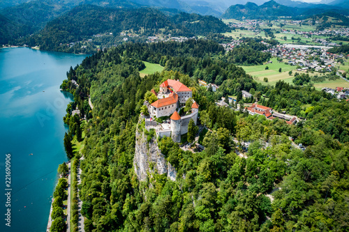 Leinwandbild Motiv Slovenia - resort Lake Bled.